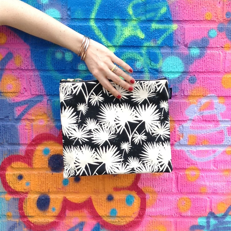 "The ""Palm Leaf "" fold-over clutch"