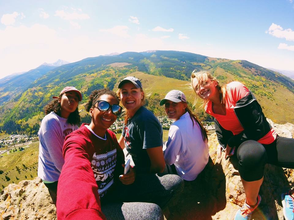 Hiking with the squad in Vail--September 2016