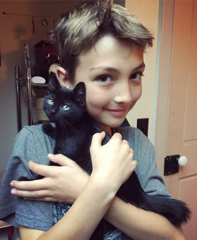 """Friday (formerly """"Phil"""") and his brand new human! Adopted October 2017."""