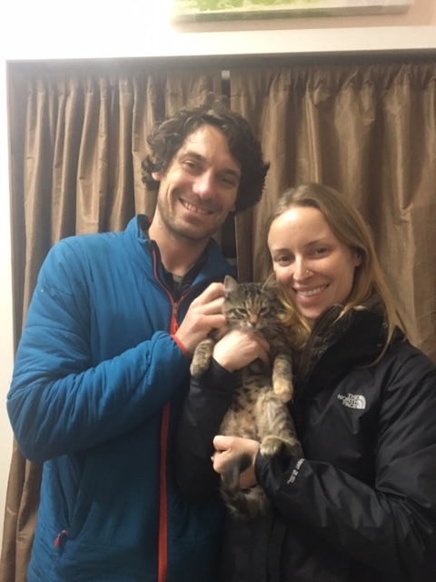 Candy and her new parents, Mckenzie and Bjorn!