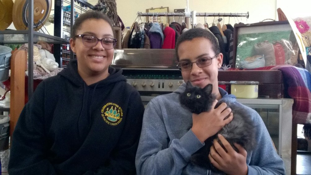 Morticia and her new family! Adopted from our Blue Lake store 1/4/18.