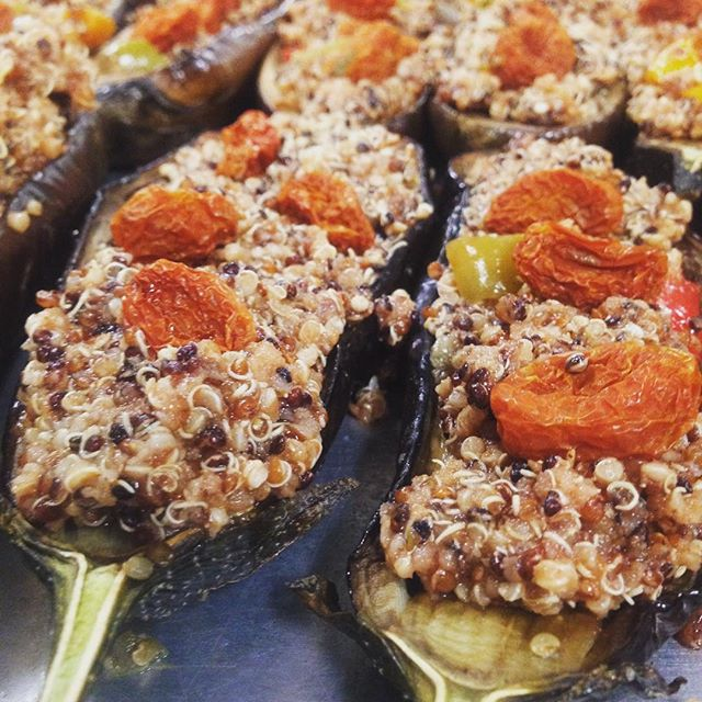 Stuffed Eggplant from The Organic Gypsy
