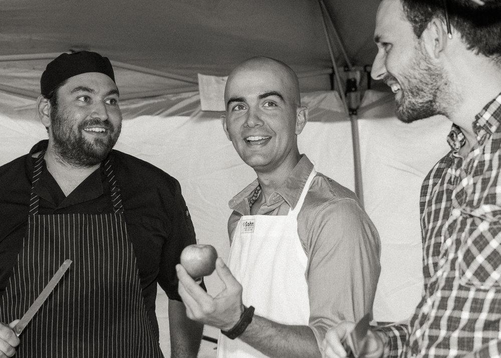 Chef Josh (left),  Photo by Michael McCluskey