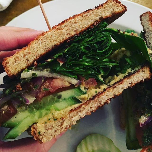 Vegan sandwich from the vegan-friendly @3sisterscafe . . 📸: @consciously_vegan