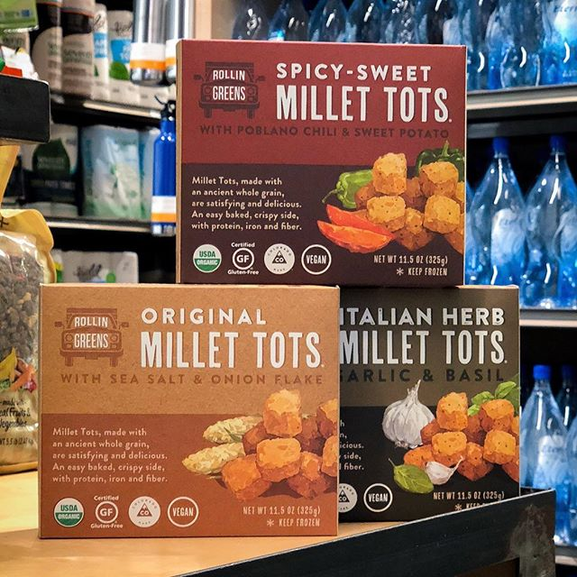 Check out what we found at @erewhonmarket! 👀 @rollingreens millet tots are made from millet, not potatoes, and are #vegan, #glutenfree, #soyfree, and #nongmo. 🌱 You can now find them in select SoCal stores. Click the 🔗 in our bio to find a store near you and tag a tot-loving friend below!👇 #ad