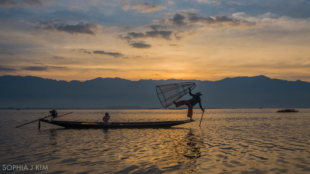 Sunrise at Inle Lake, Myanmar