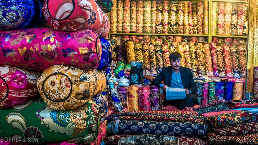 Pillow Shop Owner, Kashgar, China