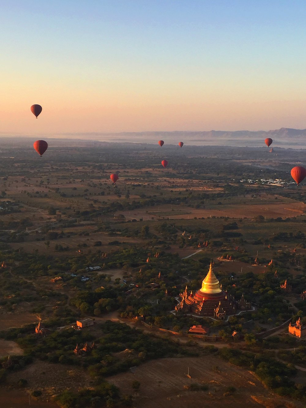 Floating Above Temples, Bagan, Myanmar