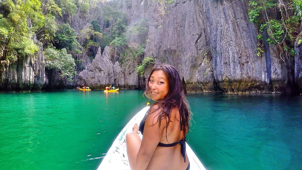 Kayaking through the Big Lagoon, El Nido, Philippines