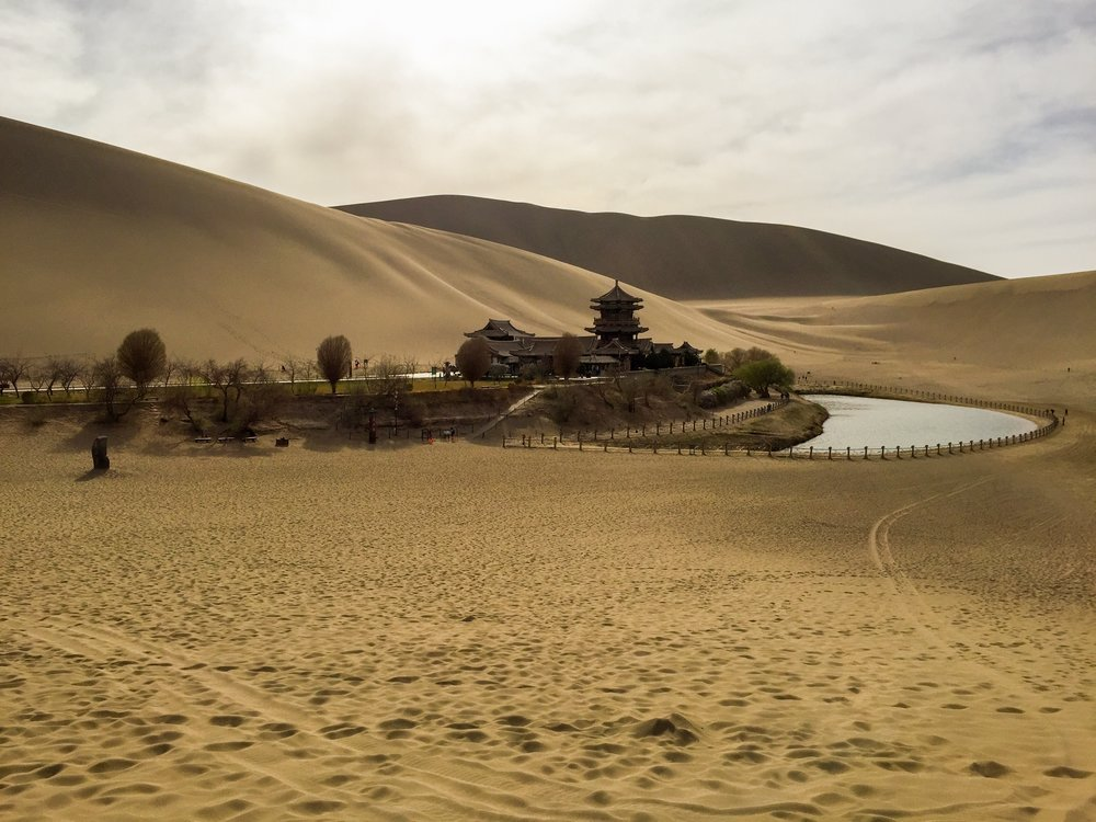 Dunhuang Crescent Lake Oasis, Gansu Province, China