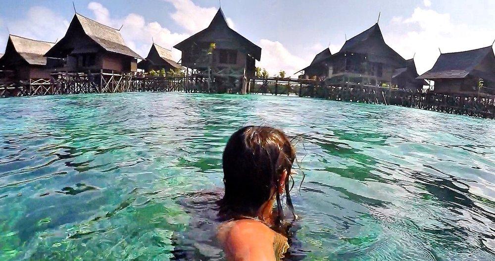Water Huts, Mabul Island, Malaysia