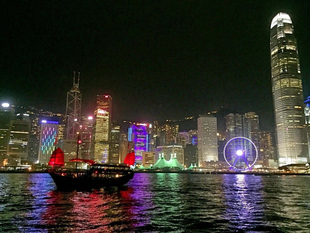 Nightly Boat Ride through the Hong Kong Bay