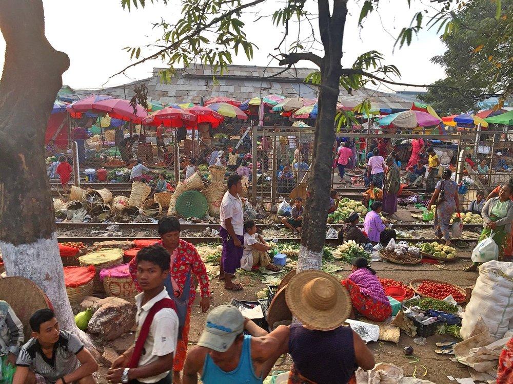 Circular Railway Market, Yangon, Myanmar