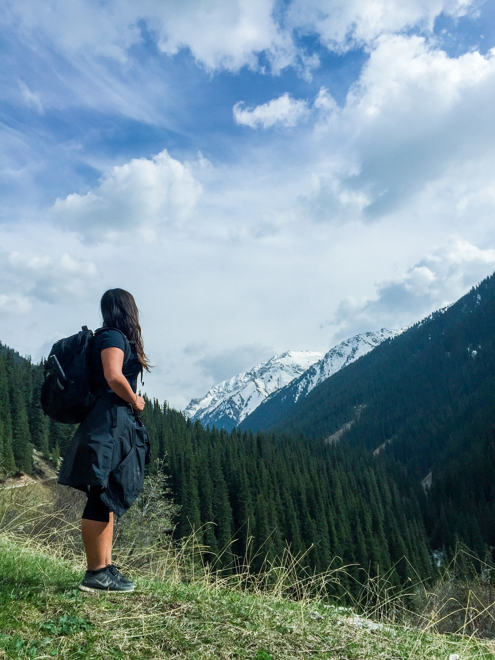 Hiking along Altyn Arashan, Kyrgyzstan