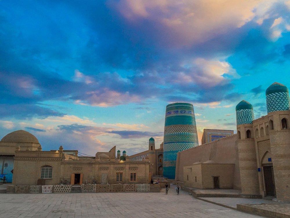 Dusk on Magical, Khiva, Uzbekistan.