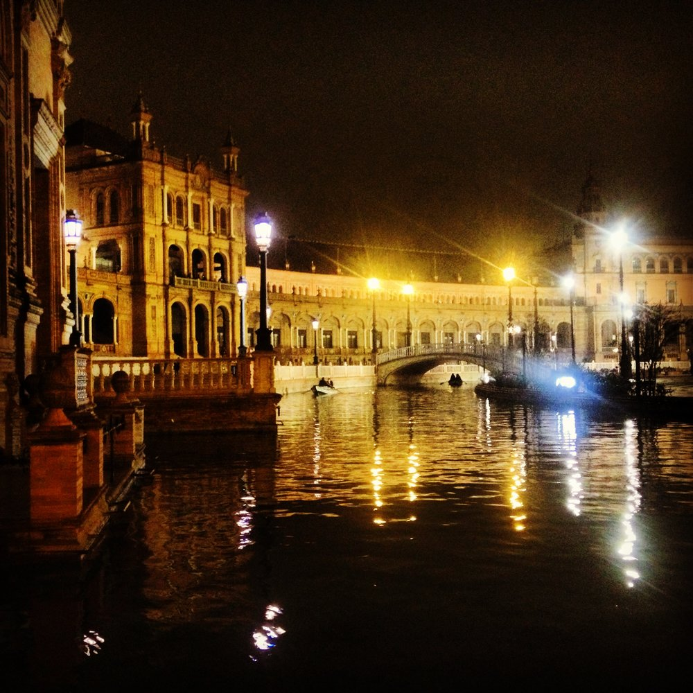 Night Stroll at Plaza de España, Sevilla, Andalucía, Spain