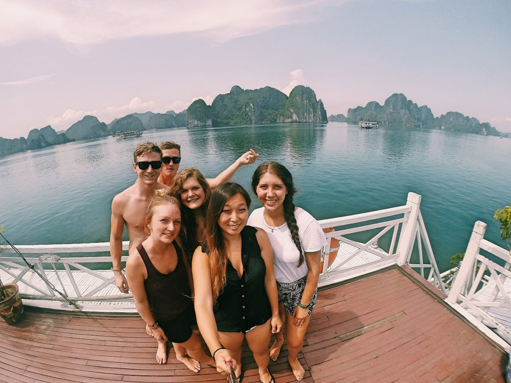 New Friends through Ha Long Bay, Vietnam