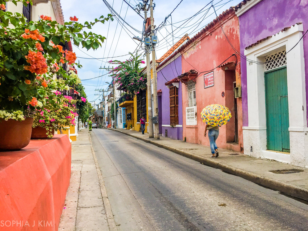 Street Color of Cartagena