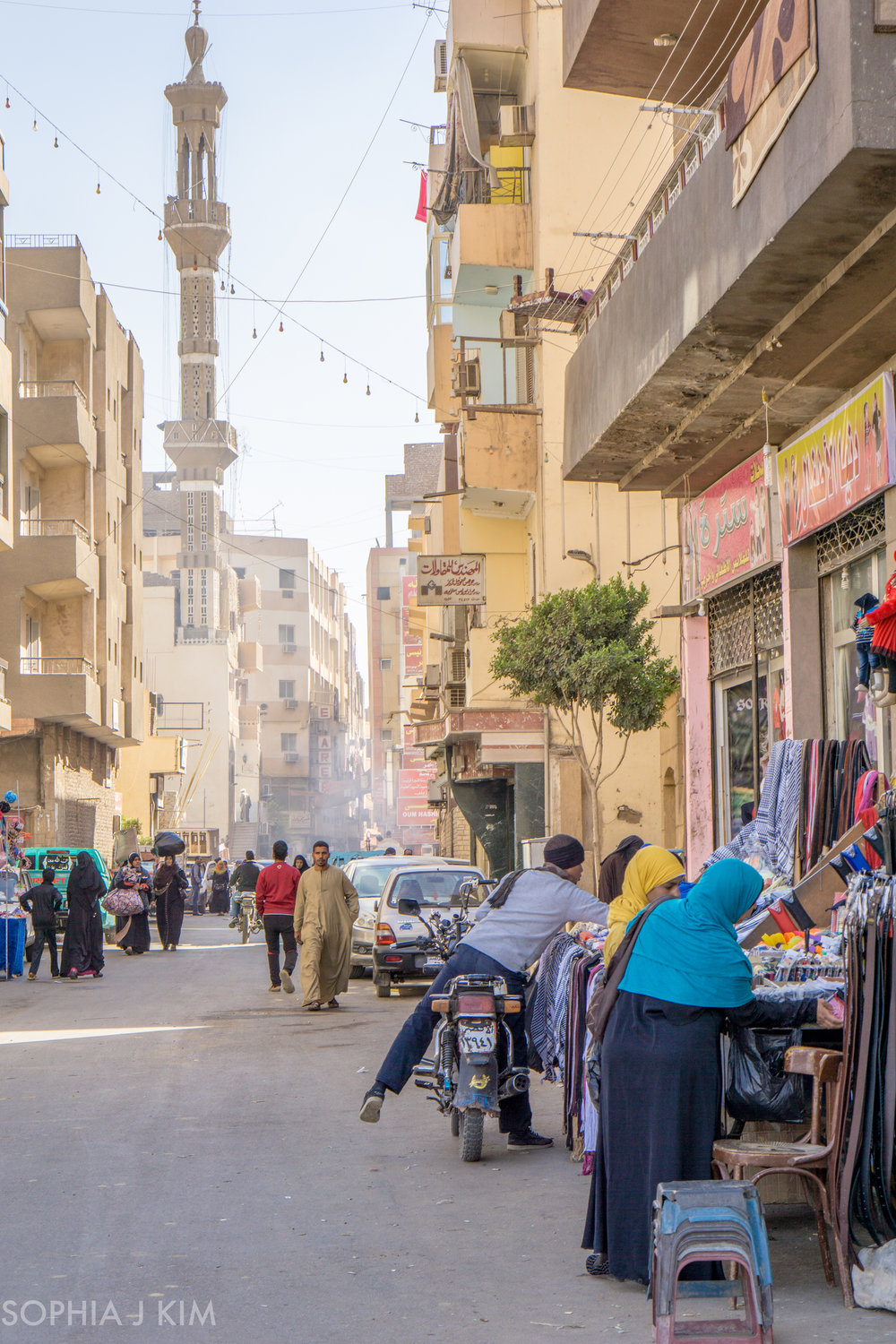 Local Streets of Luxor, Egypt