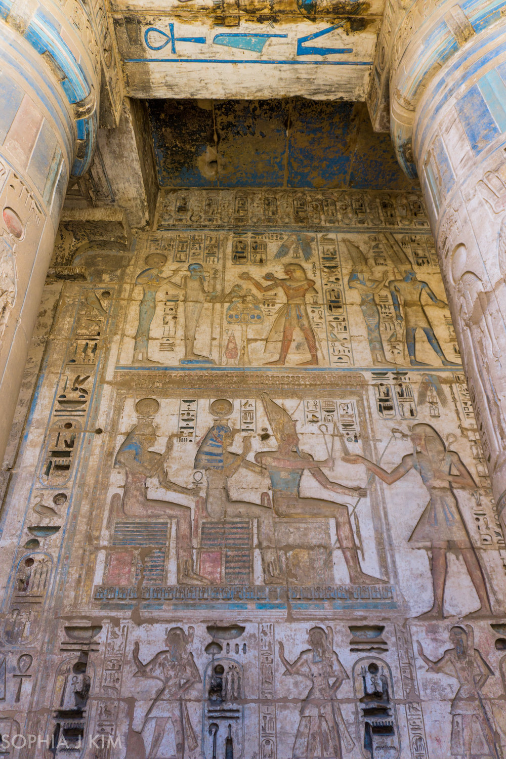 Colorful Hieroglyphics in Medinet Habu