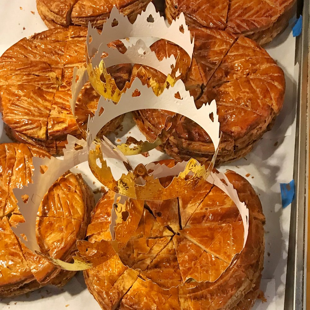Galette de Rois, or King's Cake,  from Maison Kaysor at the FIAF celebration