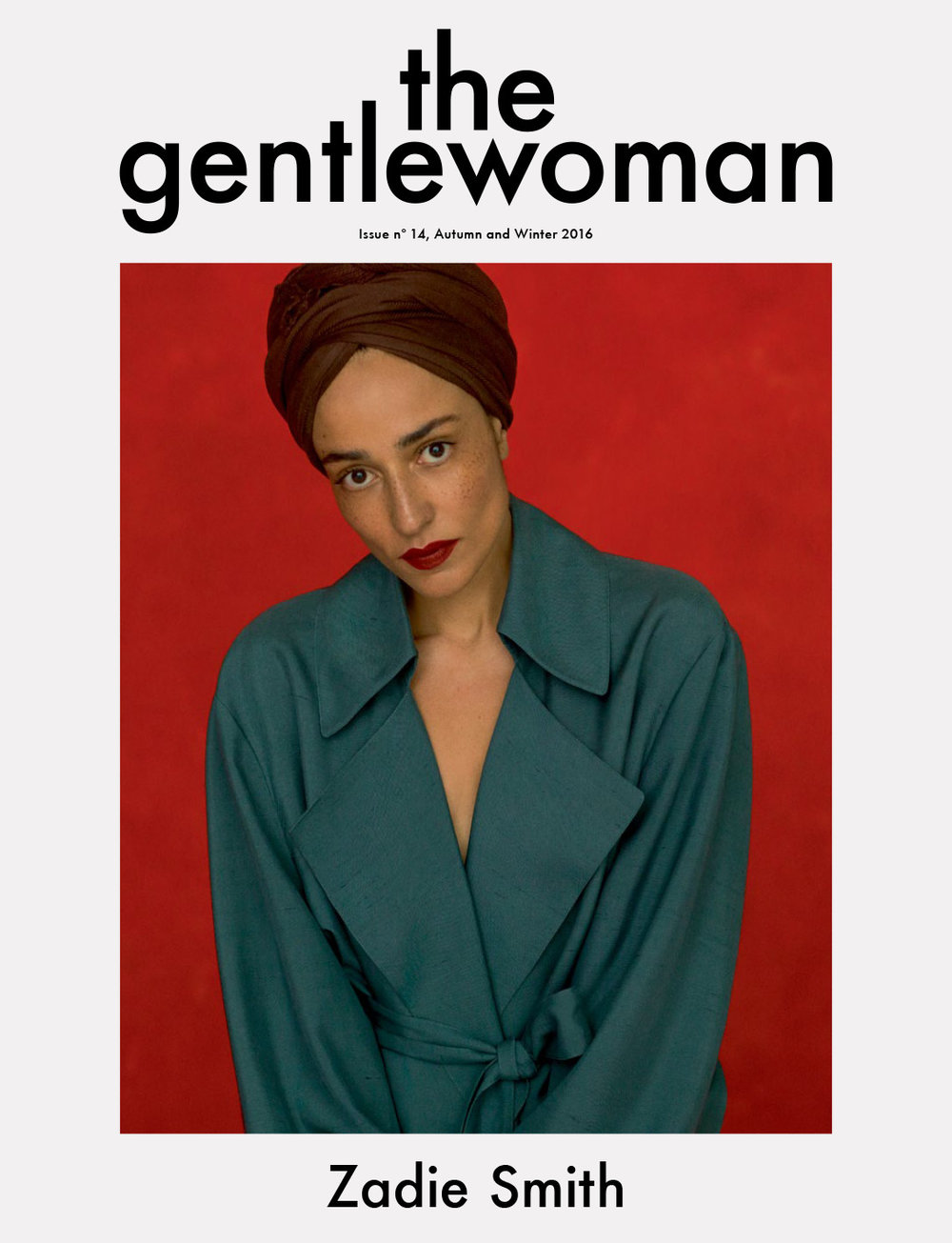 Zadie Smith Gentlewoman Cover Issue 14
