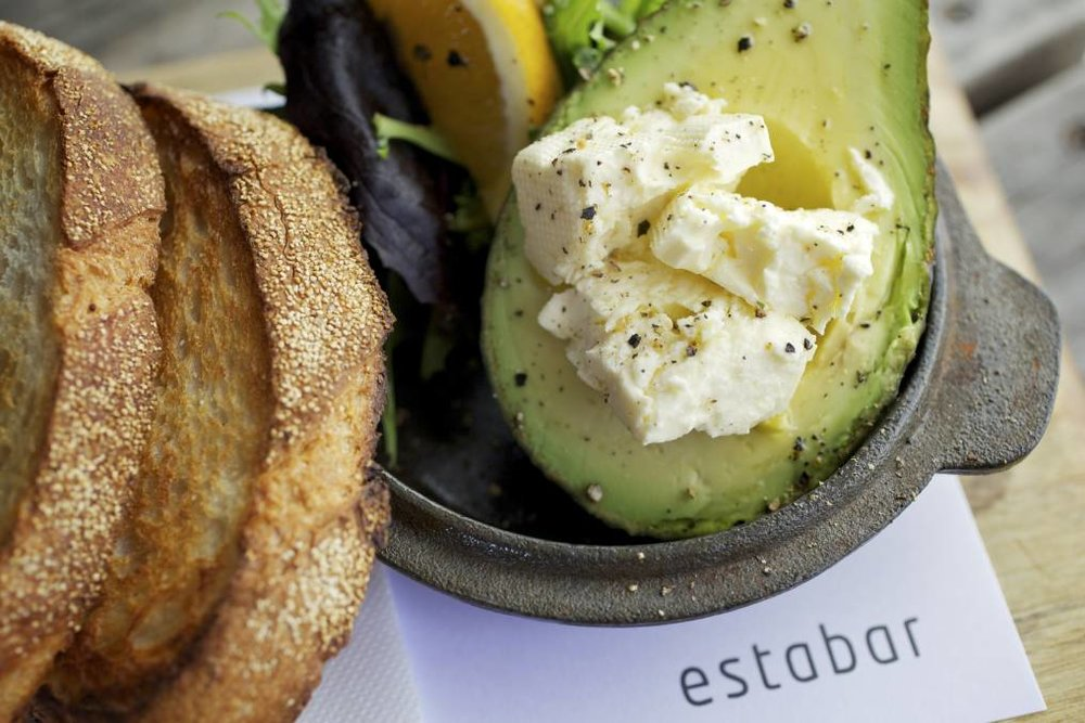 As you like it: Sourdough, avocado and feta - all local - at Estabar.