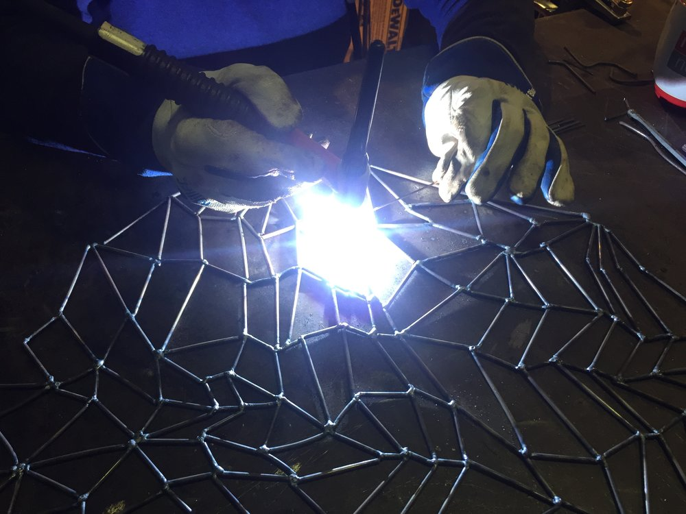 tig welding a web for the treasure town show