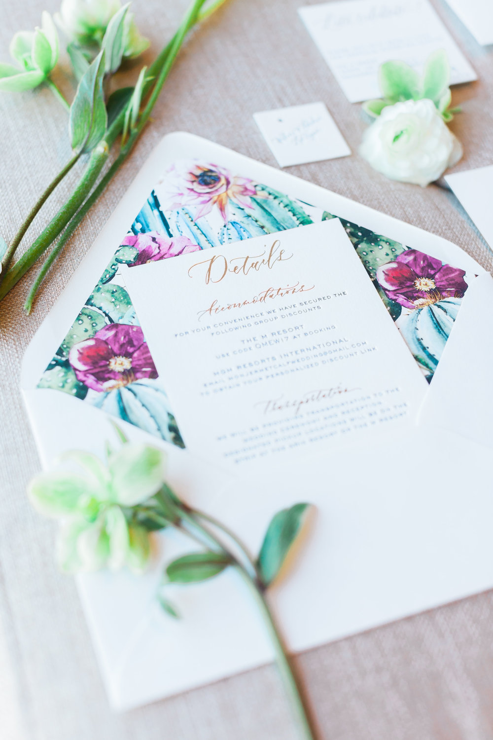 Beautiful invitation details