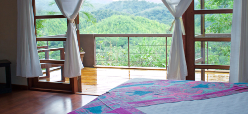 """WE WILL STAY AT THE BEAUTIFUL AHKI RETREAT CENTER WHERE THERE IS LUSH GREEN MOUNTAINS, BLUE OCEAN WATERS OF THE PACIFIC, AND PLENTY OF SUNSHINE. WHILE THERe DISCOVER THE MAGIC OF NOSARA LOCATED IN ONE OF THE 5 """"BLUE ZONES"""" OF OUR PLANET WHERE THE ENVIRONMENT IS THE PUREST."""