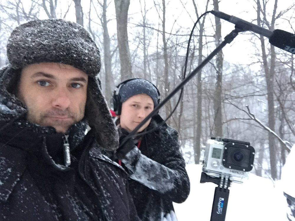 Convinced the crew to shoot a film on a day off in Mahopac, NY. Winter fun 2016.