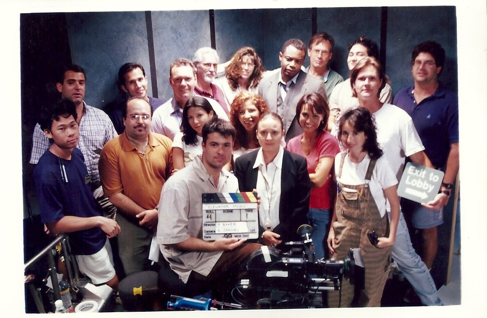 "Cast & crew of my first post-college short film, ""Elevator Music."" They were all amazing. Shot on South Beach and in Great Southern Studios, N. Miami. Summer 1999."