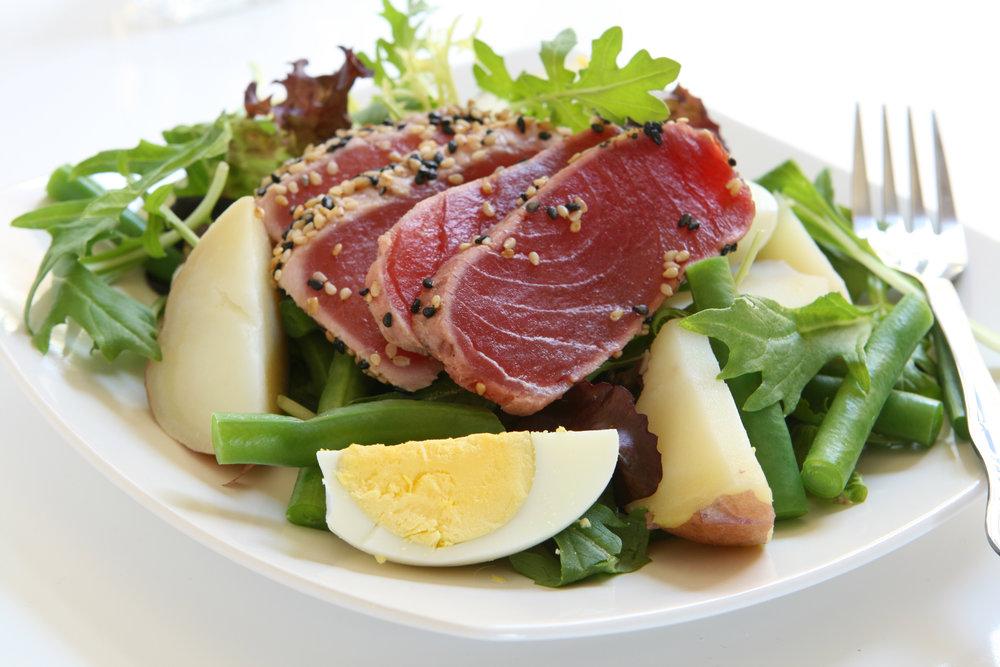 Salade de thon poêlée