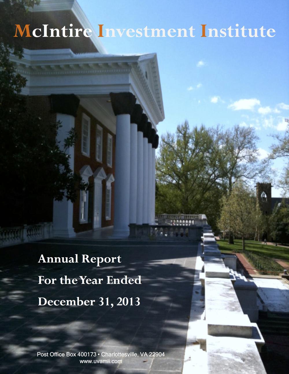 ANNUAL REPORT DECEMBER 2013