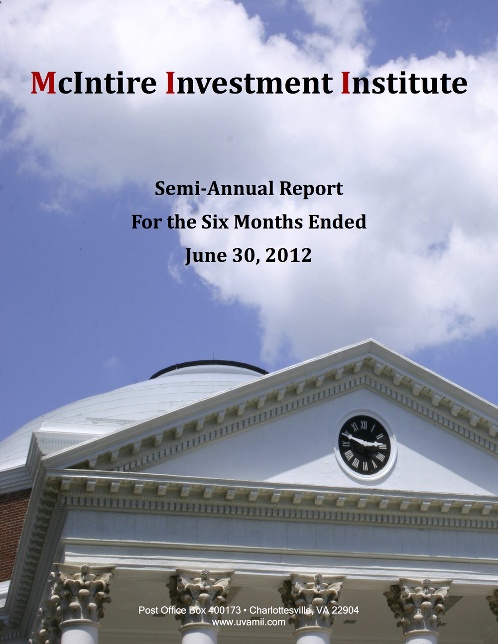 Semi-ANNUAL Report June 2012