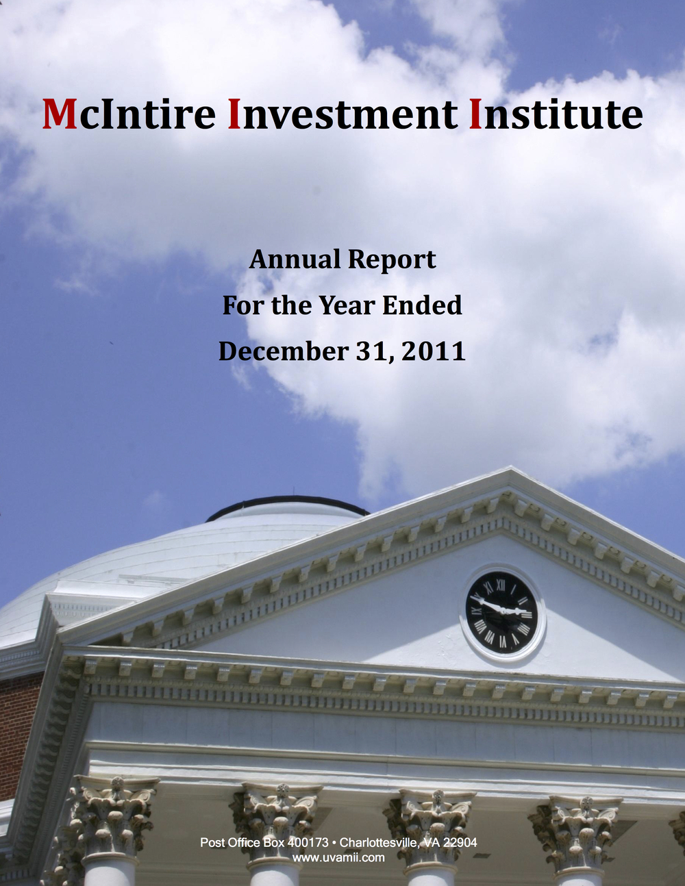 ANNUAL REPORT DECEMBER 2011