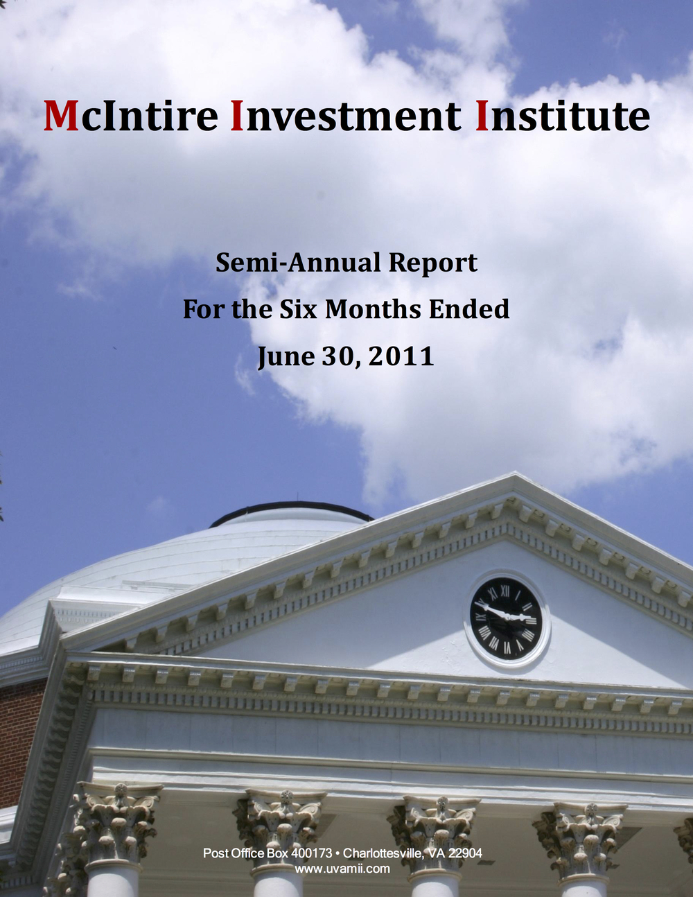 Semi-ANNUAL REPORT June 2011