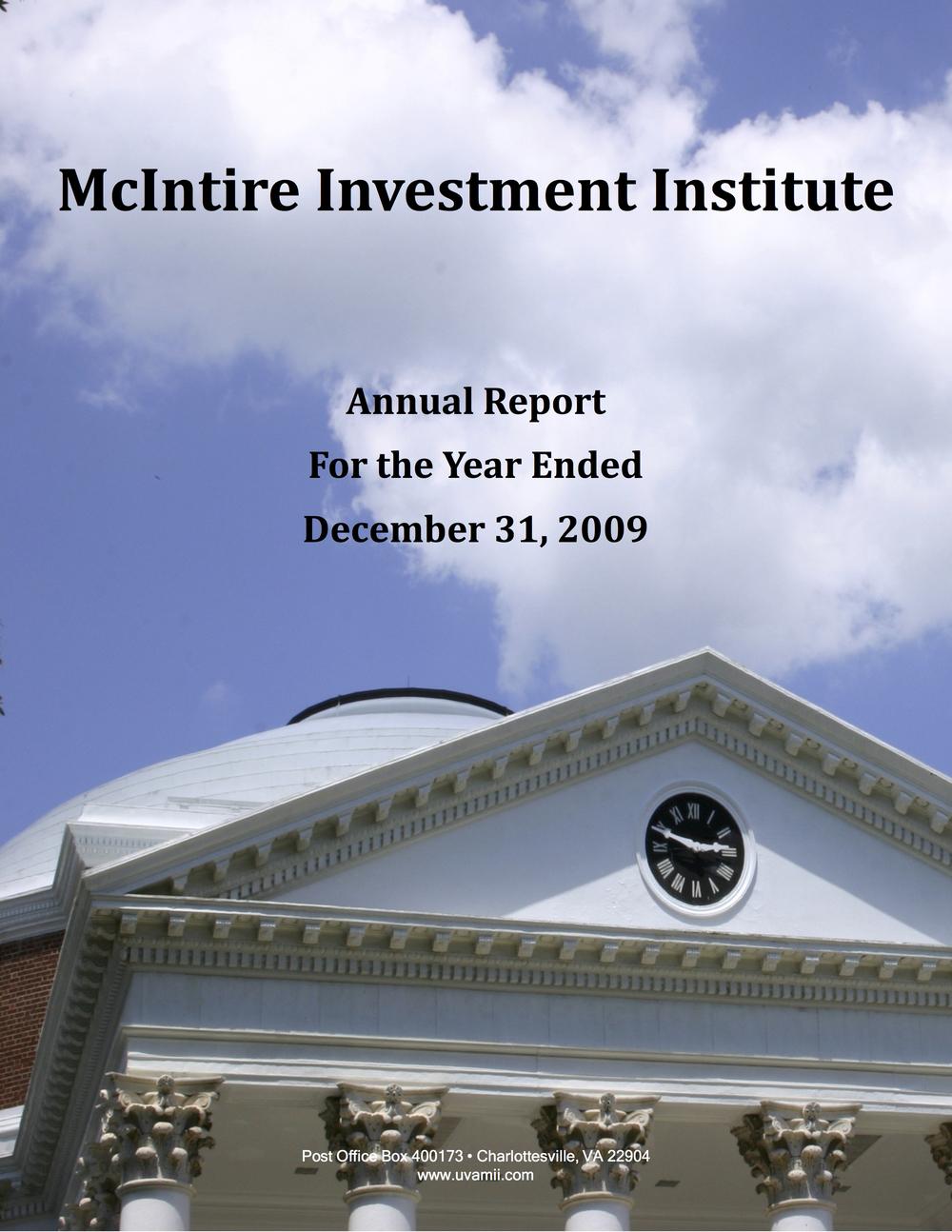 ANNUAL REPORT DECEMBER 2009
