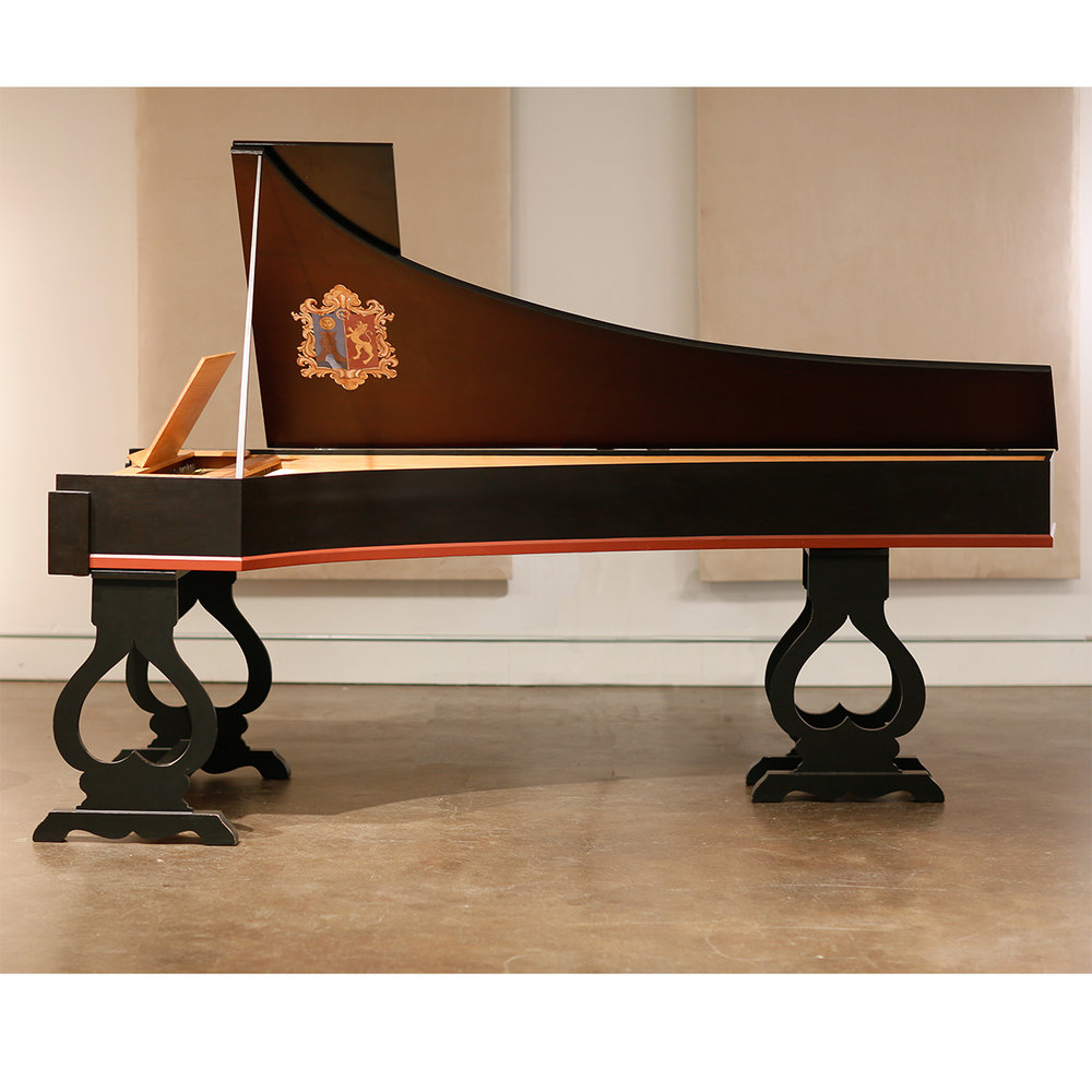 KLINKHAMER Iberian single-manual harpsichord • 2x8' FF-g''' • Made in Amsterdam, 1980