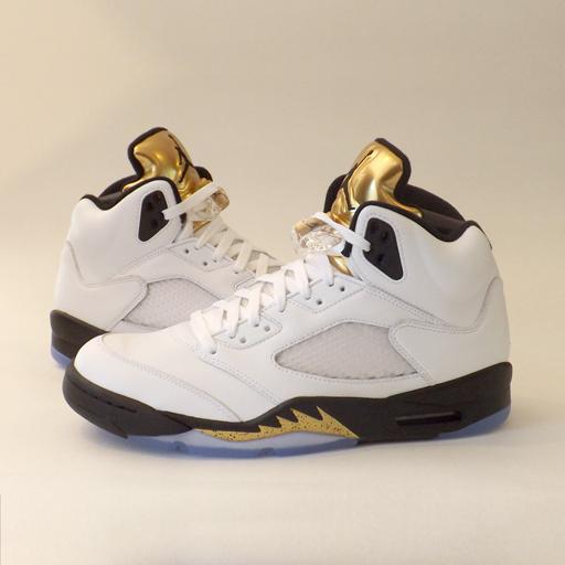 jordans retro 5 gold