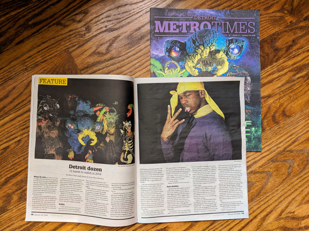 Photography commissioned by METROTIMES (Detroit)for 2018  cover article  featuring 12 Detroit bands