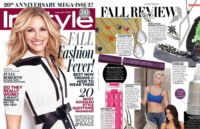 Renee Sheppard diamond jewelry featured in InStyle magazine