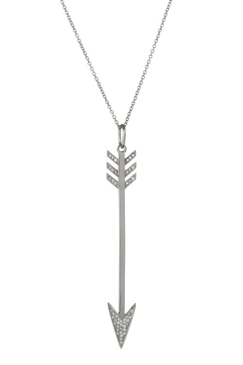 product mynamenecklace arrow jumbo personalized silver necklace