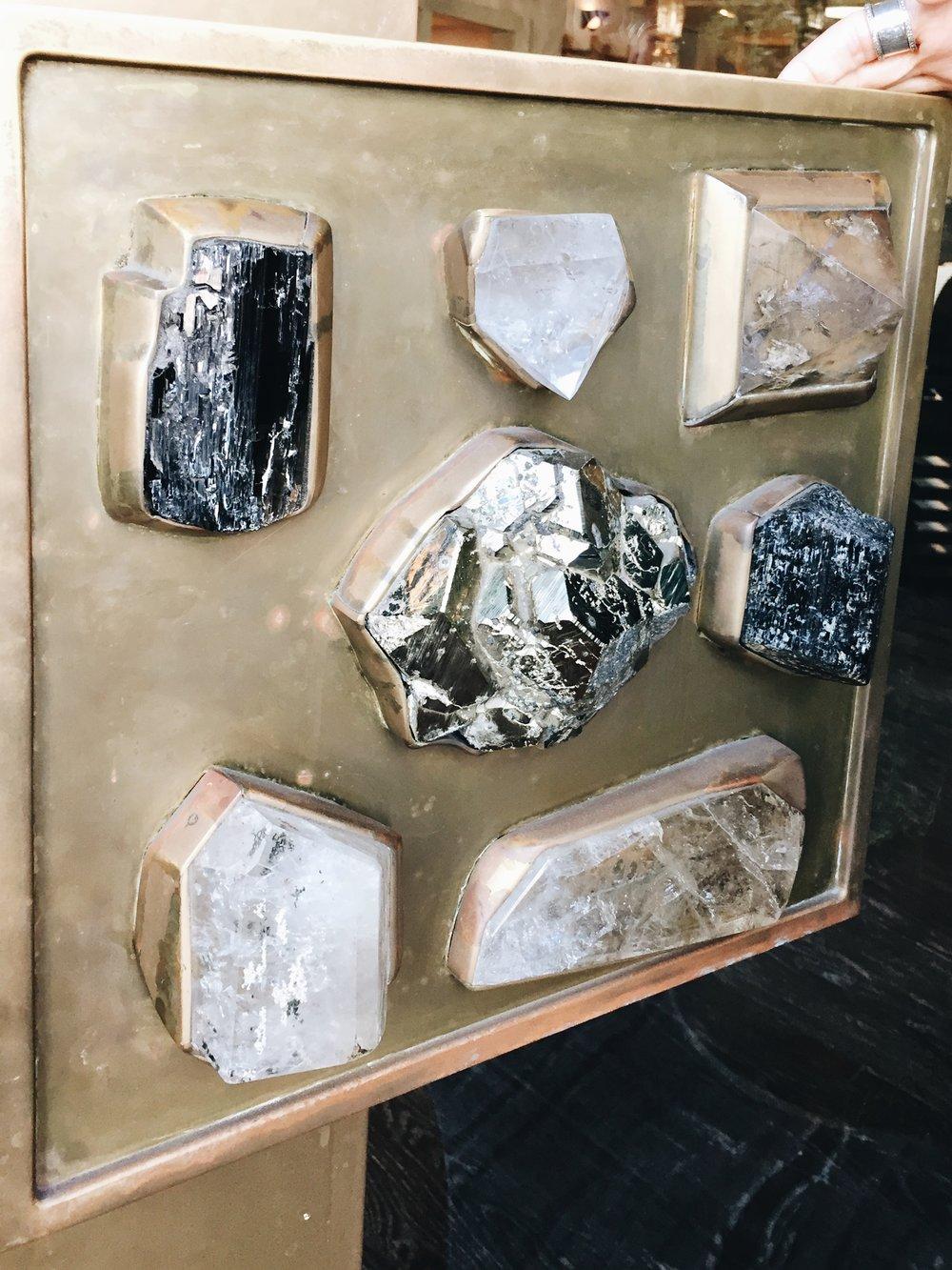Elaborate bejeweled front door handle