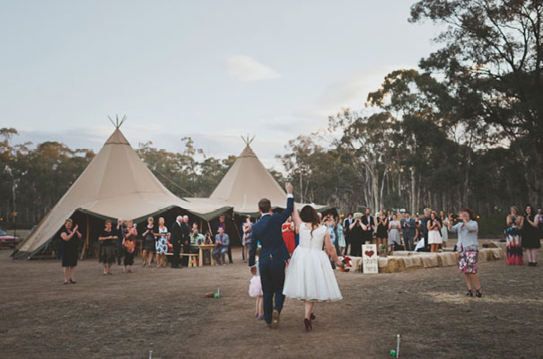 The guests apparently gasped when they arrived at the paddock to see that venue awaiting their arrival. As soon as the Tipis were set up, we just knew it was going to be fun.    Lauren and Shock
