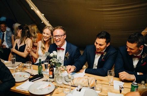 Lots of love and lots of laughs ♥️ • Ash and Gaby 15.12.2018 • Photographer @kyraboyerweddings Celebrant @katemorgan.celebrant Floristry @thriveflowers Catering @happycamperpizza Caravan Bar @ladyfrancesca.eventcaravan Band @bakerboysband • • • #diywedding #weddinginspiration #weddingstyle #melbourne #bride #victoria #weddingdress #weddinginspiration #tipihiremelbourne #bohobride #tipikata #countrywedding #victoriawedding #tipihirevictoria #eventhire #weddingflowers #weddingstyle #weddingplans  #wedding2019 #melbournewedding #melbourneevents #centralvictoria #melbournecbd #gippsland #morningtonpeninsula #geelong #greatoceanroad #bendigo #ballarat #bellarinepeninsula #teepeewedding #tipiwedding