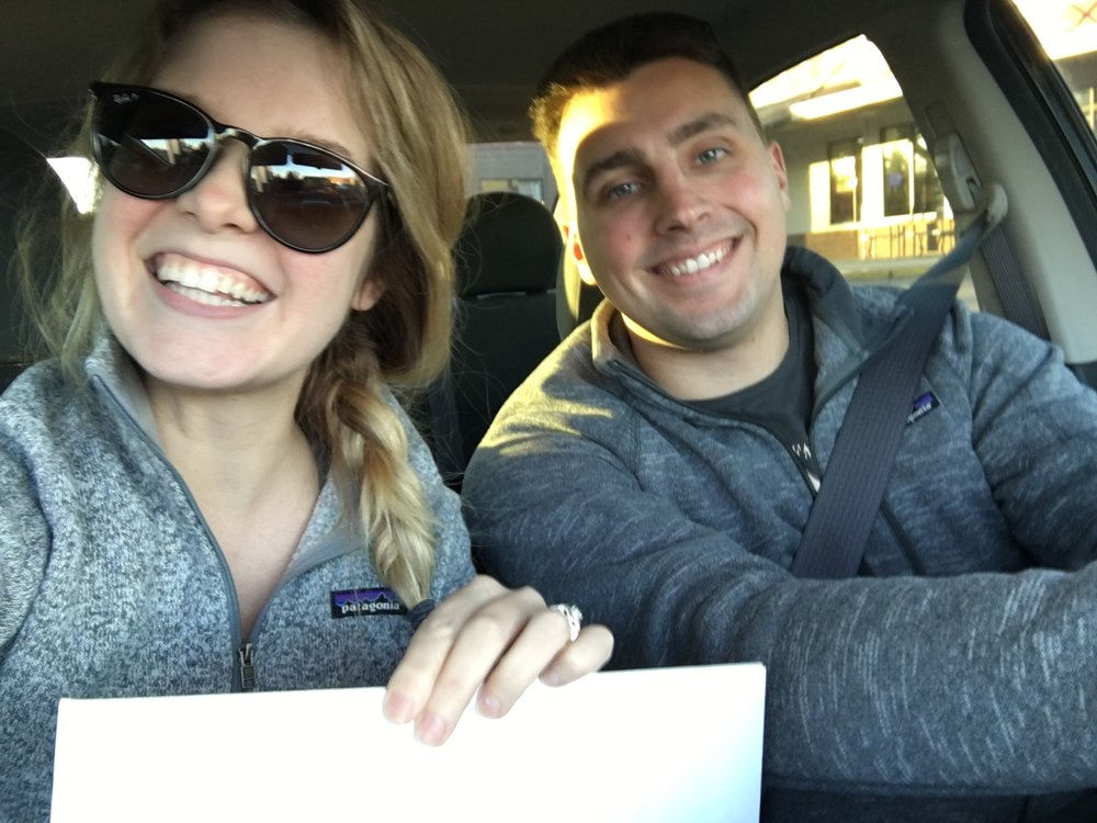 This was the day we got our Marriage license, we were soo excited and could technically go anywhere in Washington to get it, but we drove hours away to the county we would actually be getting married in to get it!!