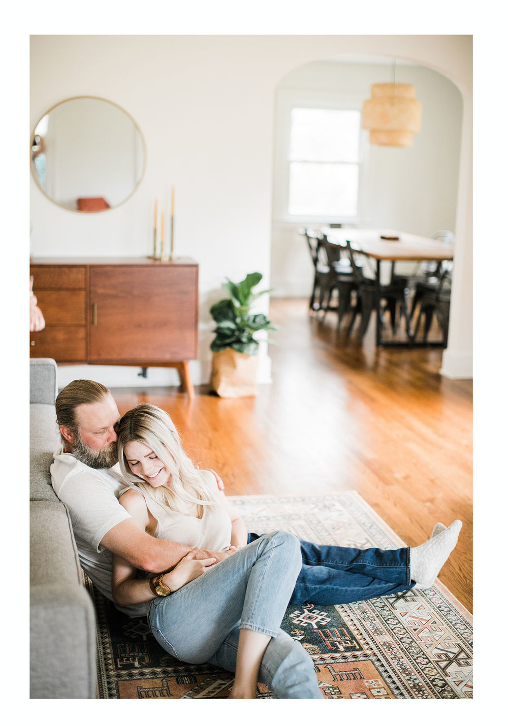 Raleigh North Carolina in home couples photography