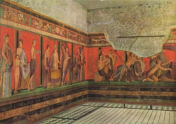 Mural at Pompeii, Italy. Photo: Wikimedia Commons
