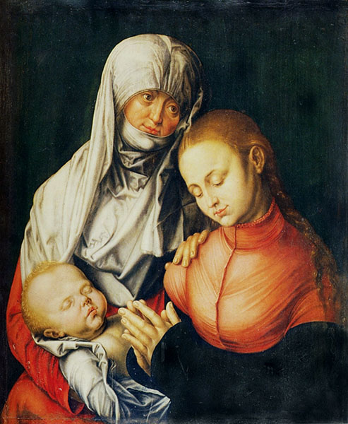 Albrecht Dürer,  Virgin and child with St Anna , 1519.